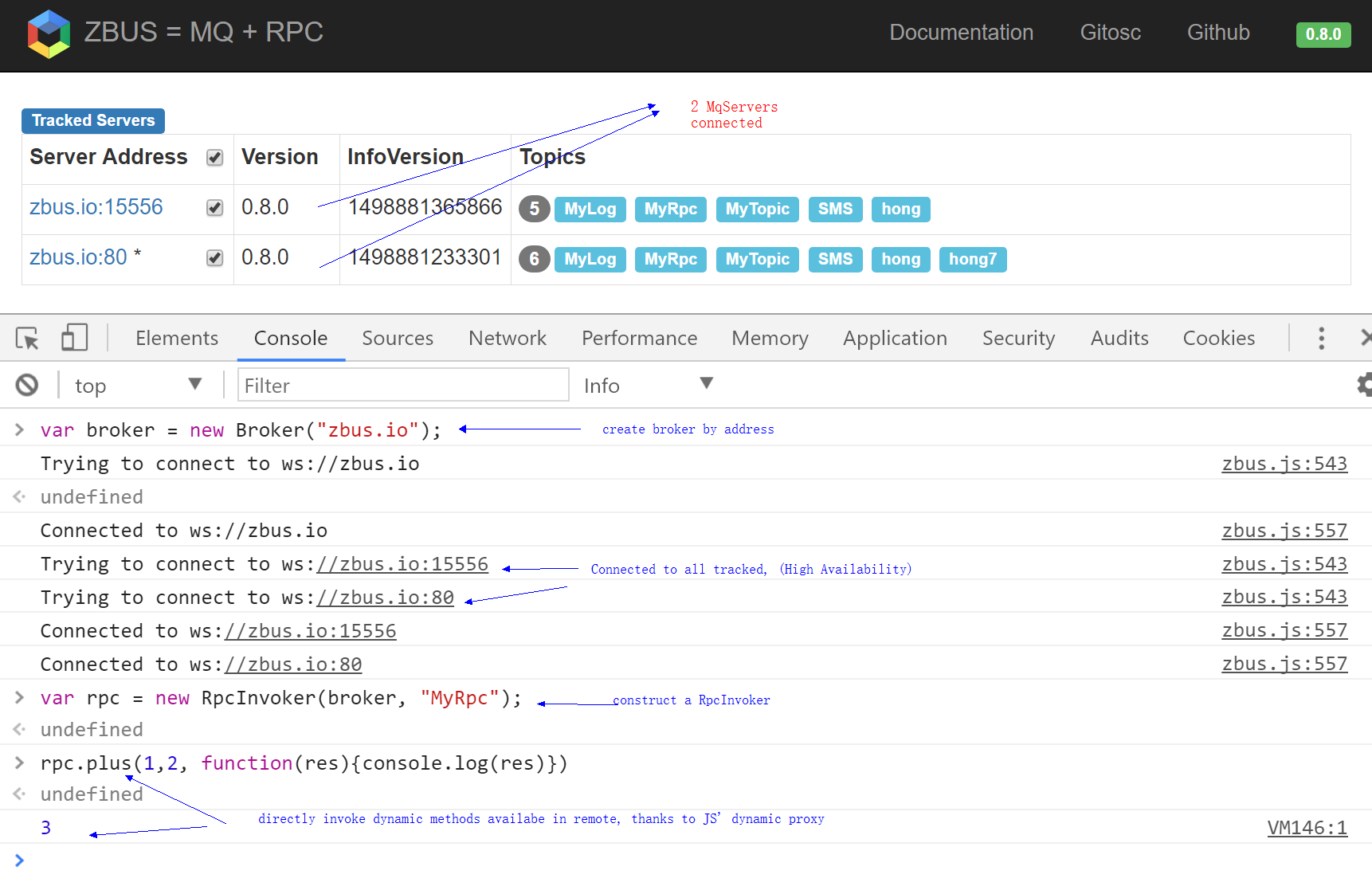 RPC in browser